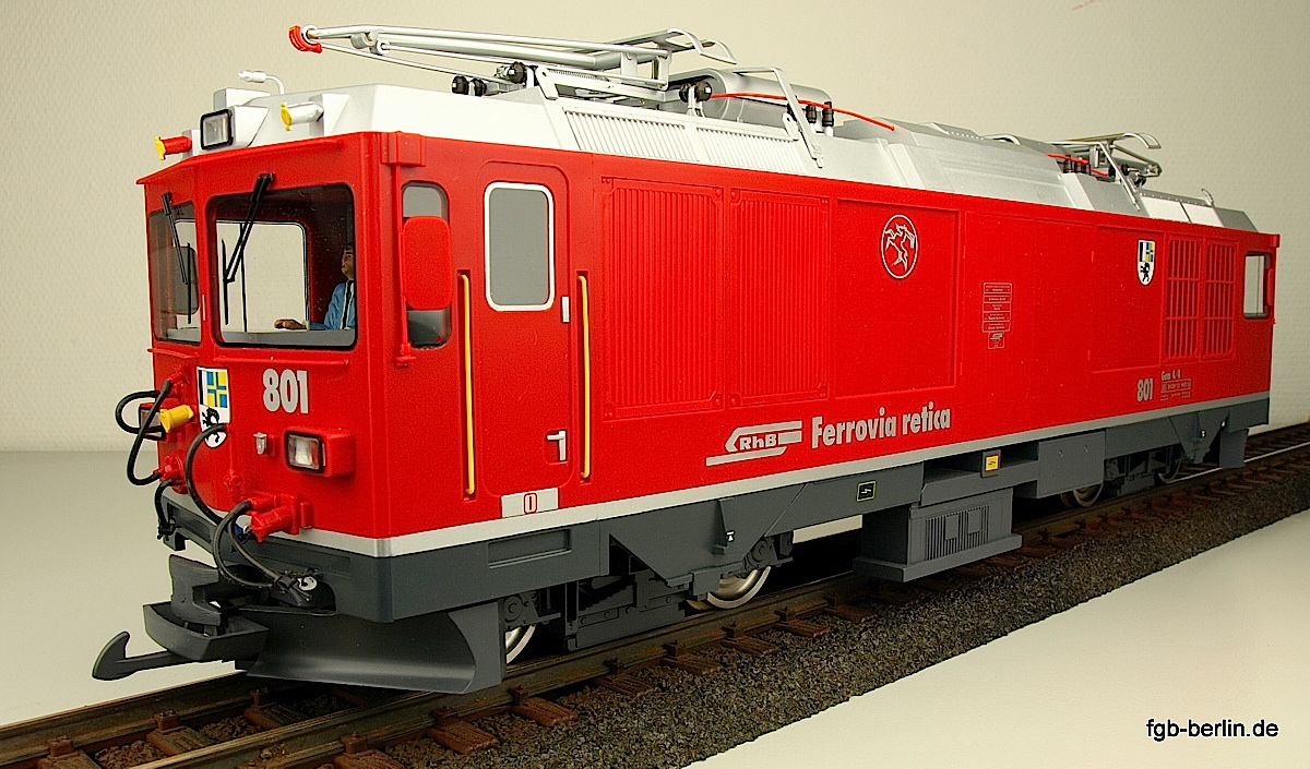 "RhB Gem 4/4 Zweikraftlokomotive (Dual power locomotive) 801 ""Steinbock"""