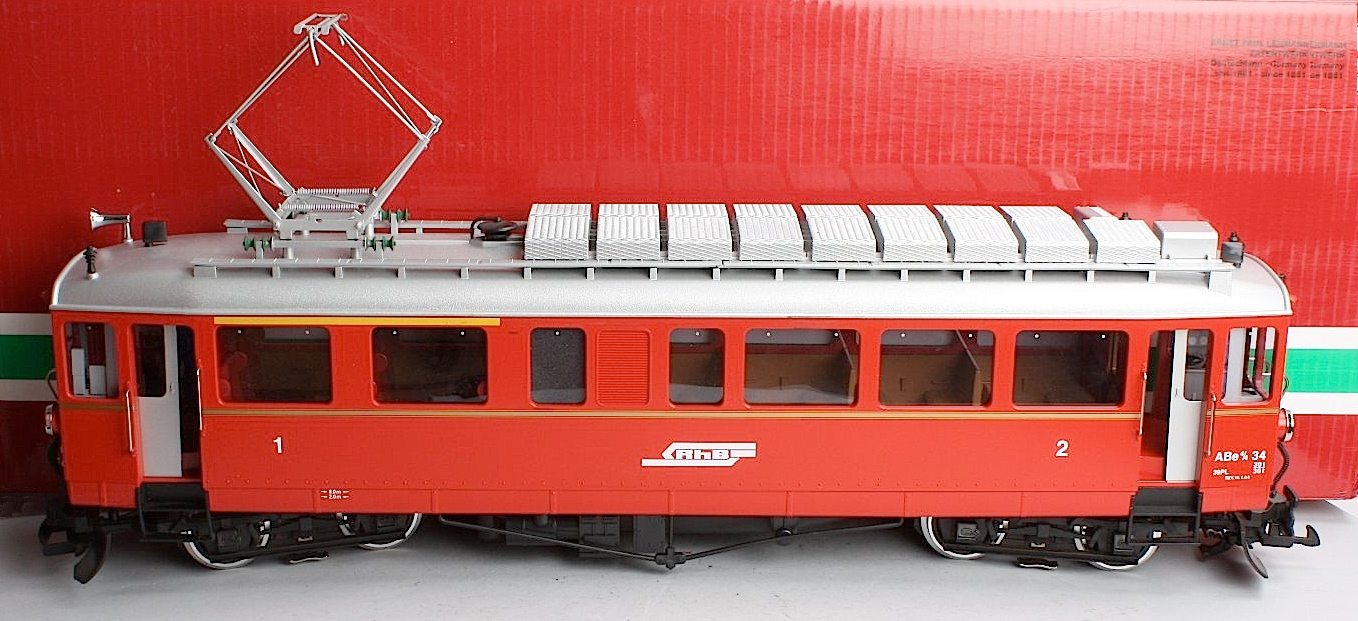 RhB Triebwagen, linke Seite (Rail car, left side) ABe 4/4 34