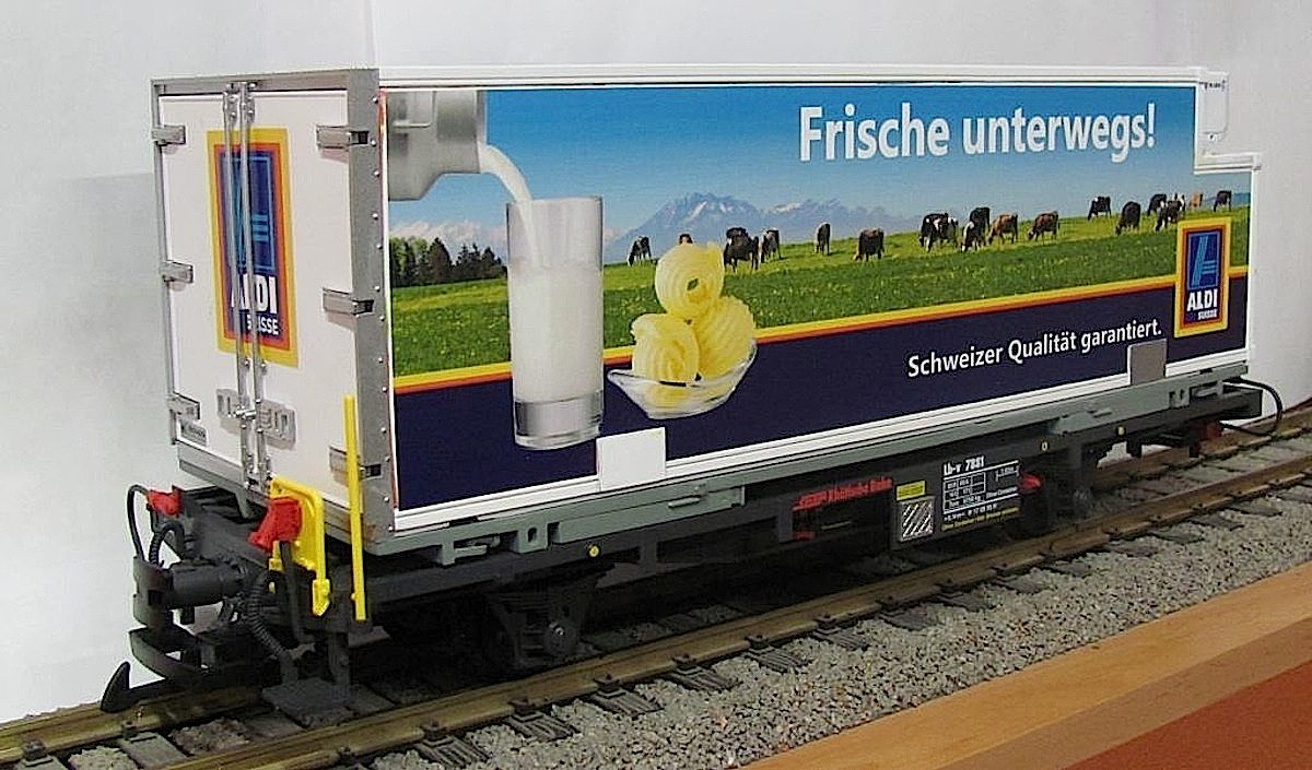 RhB Containerwagen (Container car) Aldi Lb-v 7881