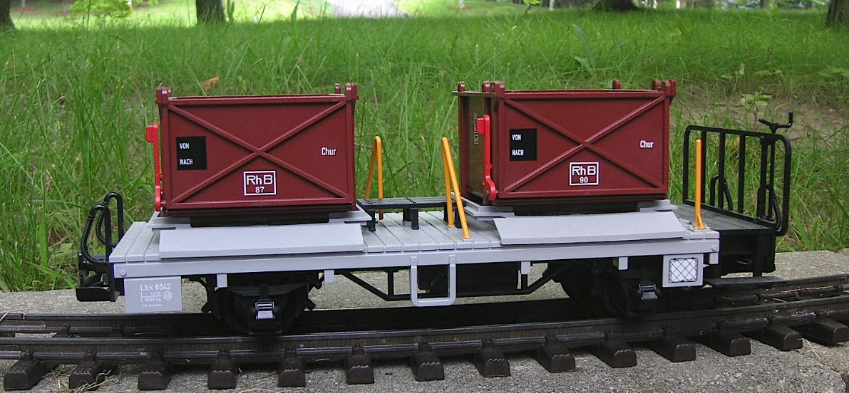 RhB Bahältertragwagen (Gravel car) Lbk 8642