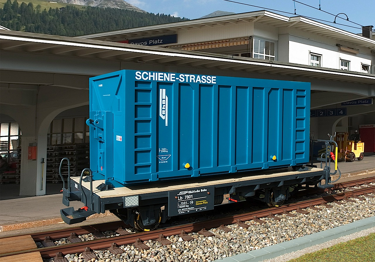 RhB Containerwagen (Container car) Lb 7801