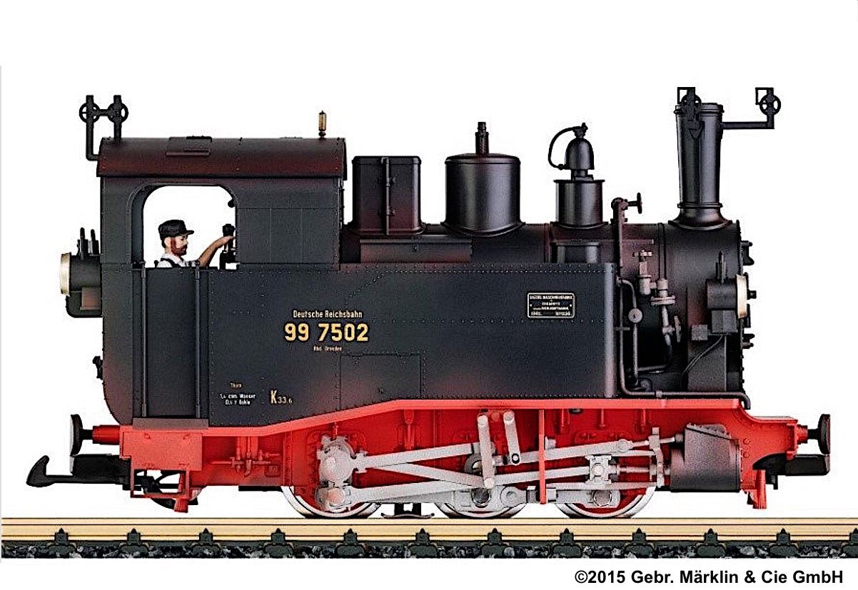 DR Dampflok (Steam Locomotive) I K - 99 7502