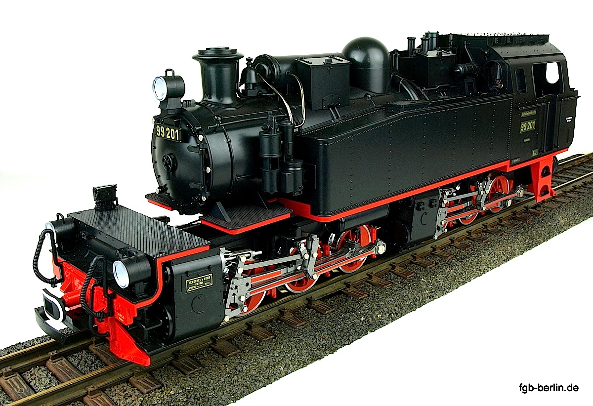 DR Dampflok (Steam locomotive) Mallet 99 201