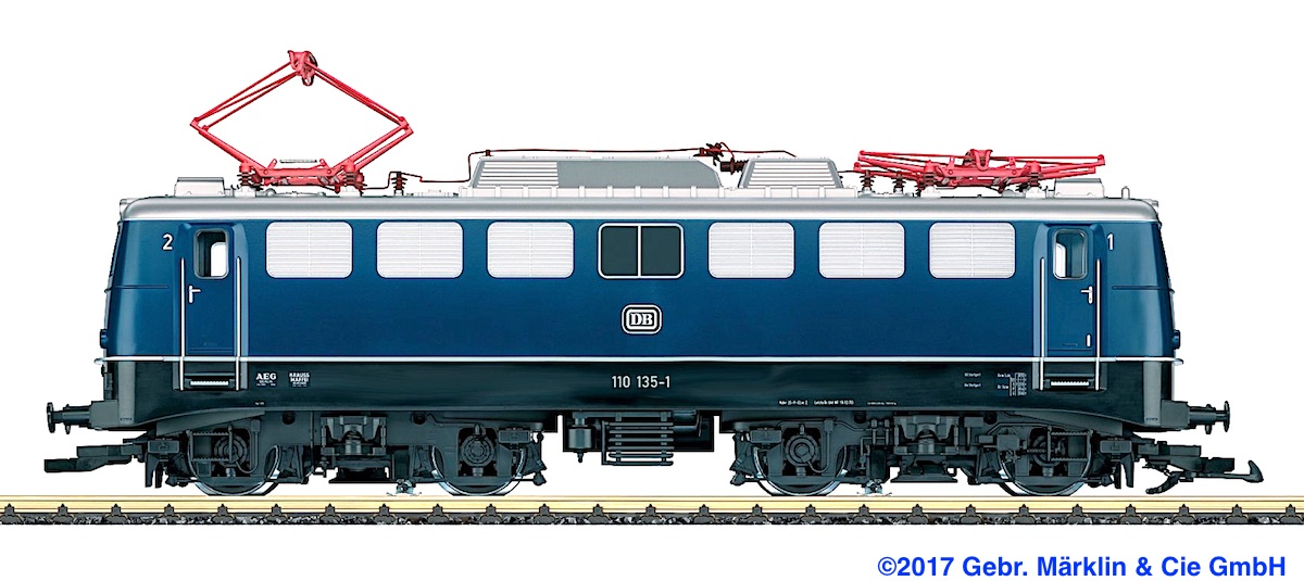 DB Elektrolokomotive (Electric Locomotive) BR 110 135-1