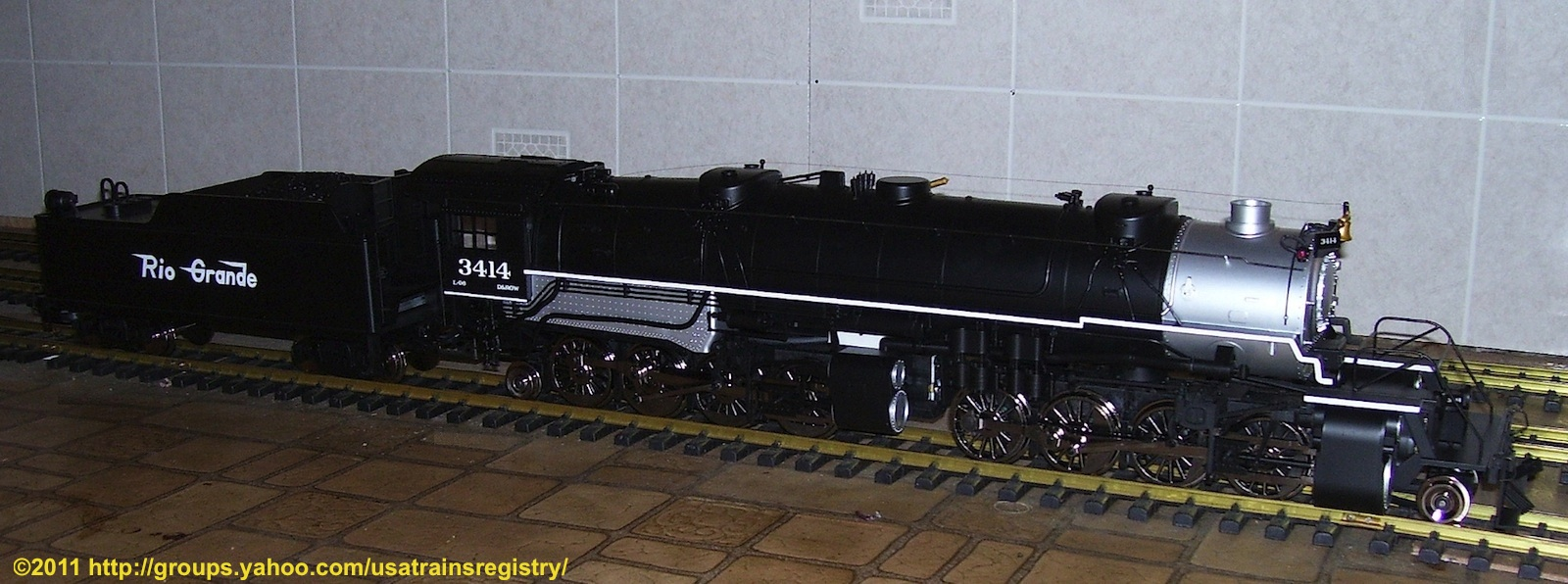 Rio Grande Mallet 2-8-8-2 Schlepptender Dampflokomotive (Steam locomotive) 3414