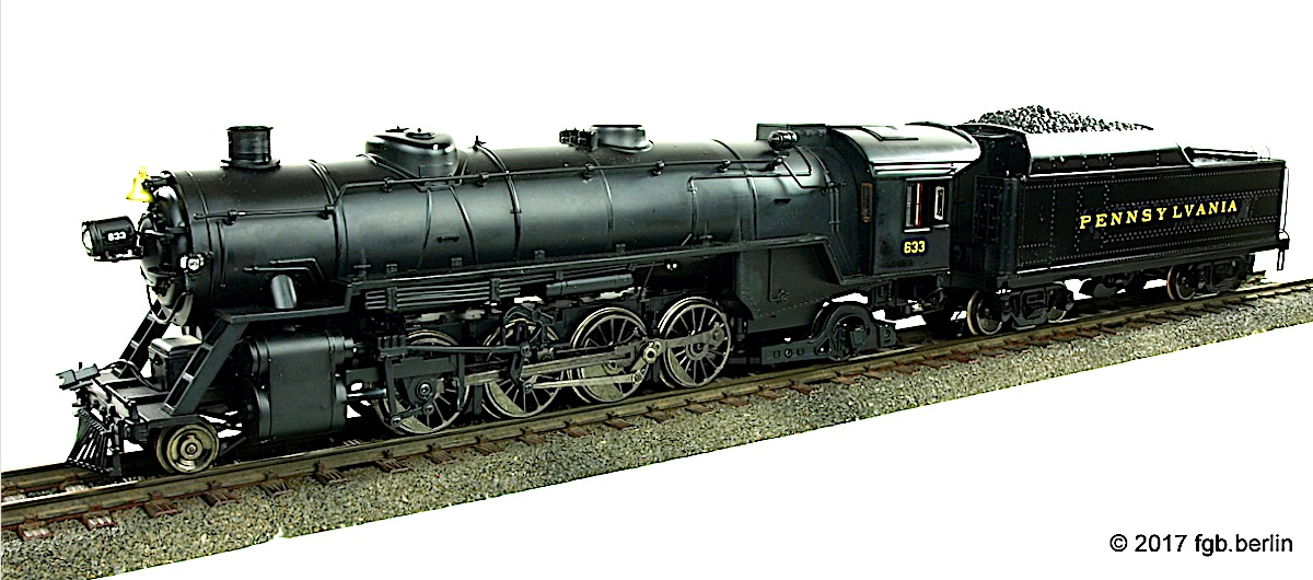 PRR Dampflok (Steam locomotive) Mikado 633