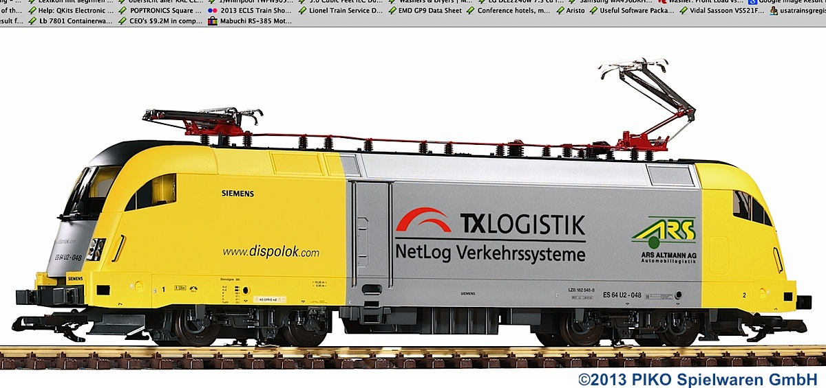 "TX Logistik E-Lok (Electric locomotive) 182 548-8 ""Taurus"""