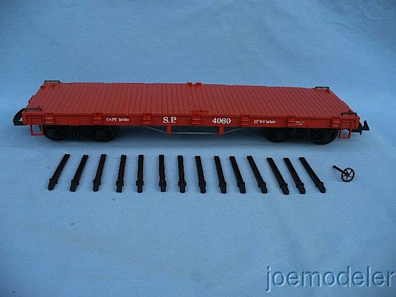 Southern Pacific Flachwagen mit Rungen (Flat car with stakes), Version 3