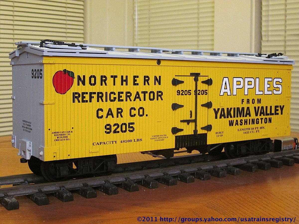 Yakima Valley Apples Kühlwagen (Reefer) NRCCo 9205