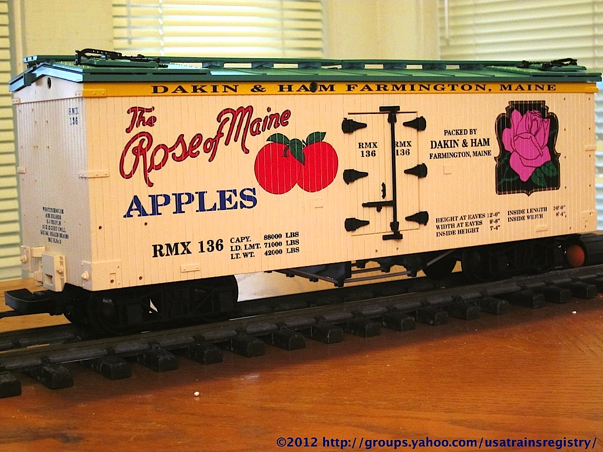 Dakin & Ham Rose of Maine Apples Kühlwagen (Reefer) RMX 136