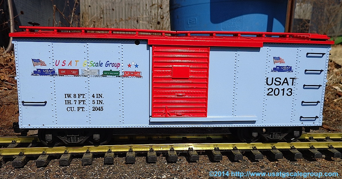 USAT G-Scale Group Güterwagen (Box car) 2013  - Handmuster - Pre-production