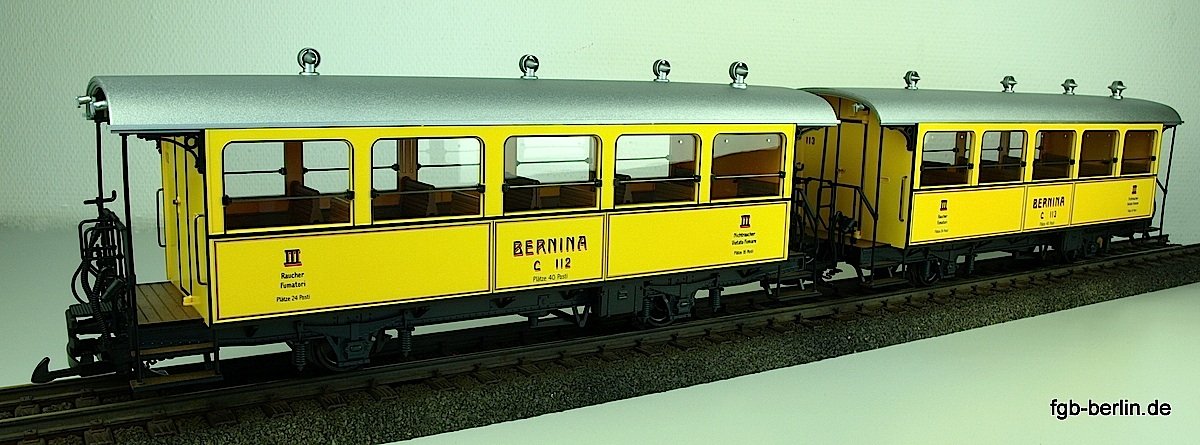Bernina Bahn Personenwagenset (Passenger car set) C 112 & C 113