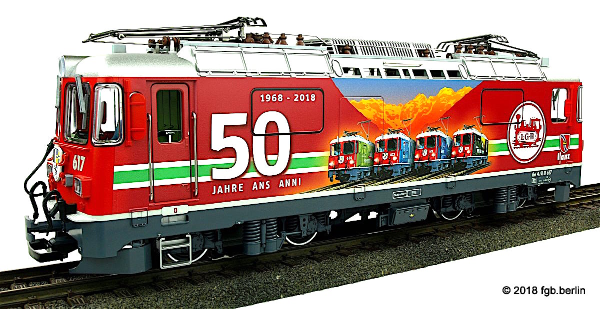 "RhB Ellok (Electric locomotive) Ge 4/4 II 617 ""50 Jahre LGB"""