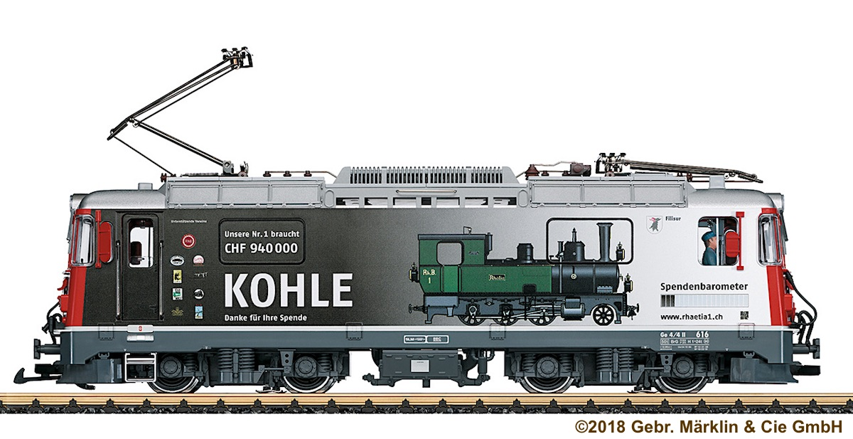 RhB Ellok (Electric Locomotive) Ge 4/4 II 616