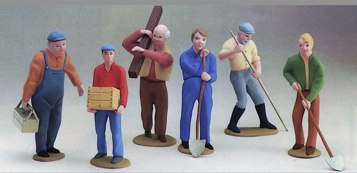 Arbeitende Figuren, 6-teilig (Worker figures, set of 6)