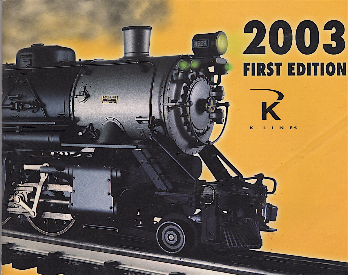 K-Line Electric Trains Katalog (Catalogue) 2003 1st Edition