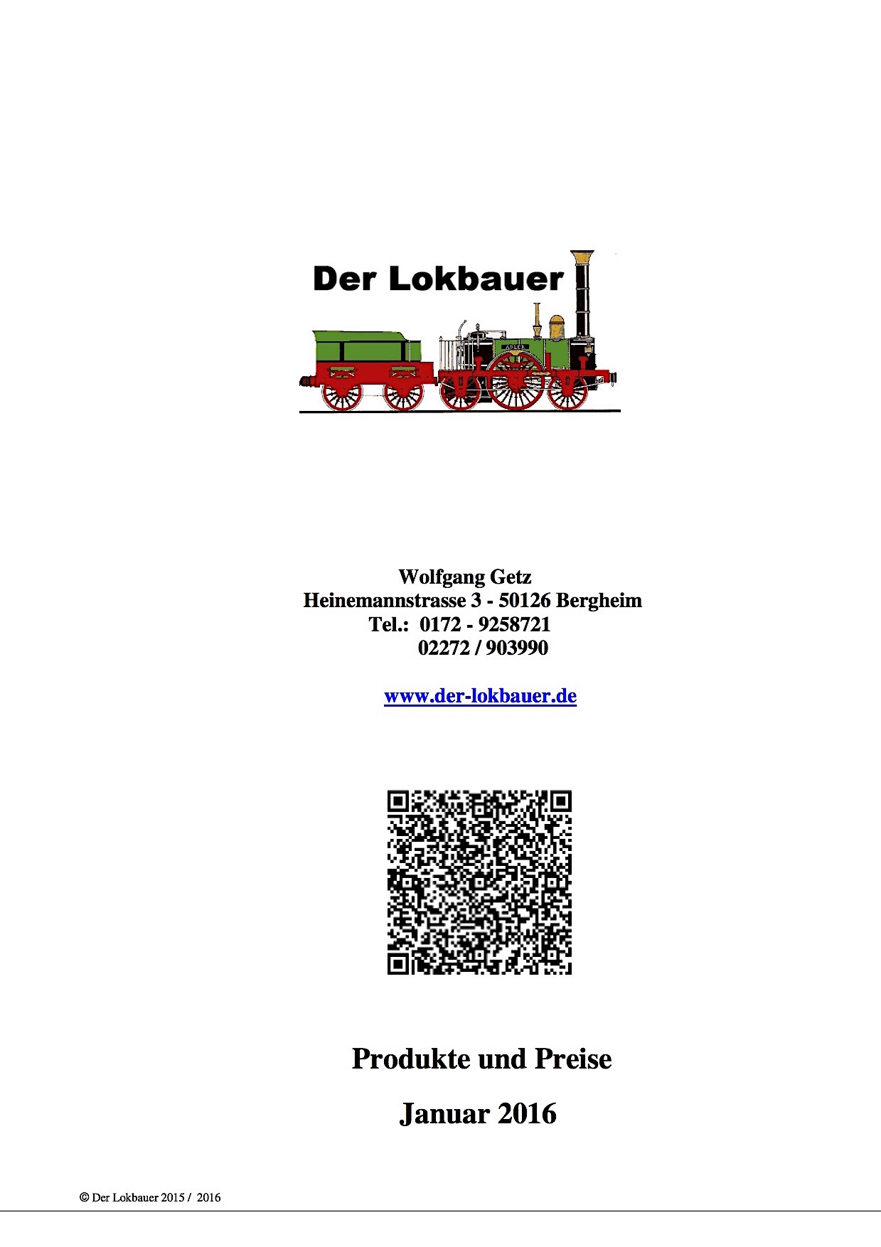 Der Lokbauer Katalog (Catalogue) 2016