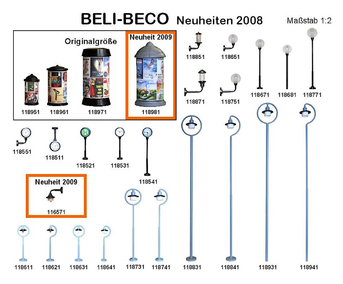 Beli-Beco Neuheiten (New Items) 2008