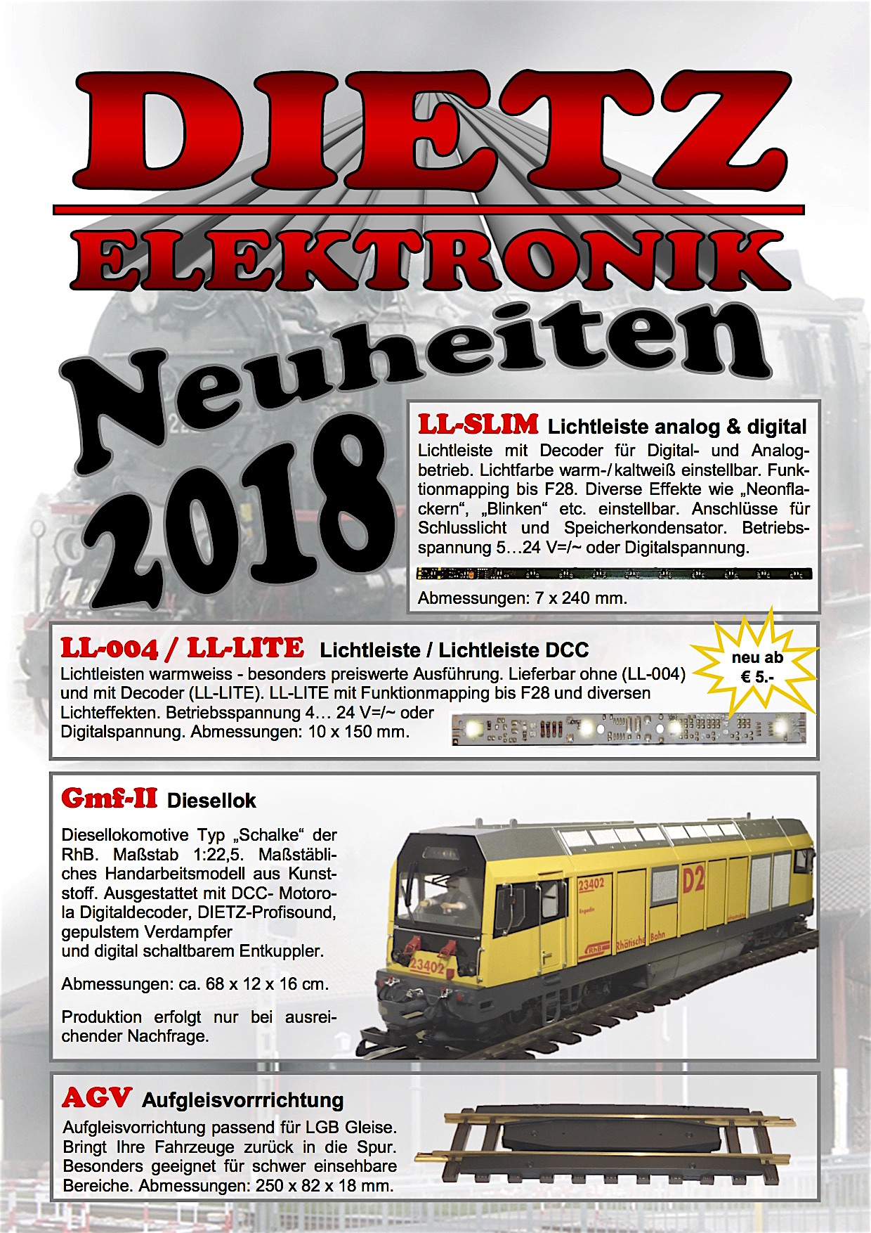 Dietz Neuheiten (New Items) 2018