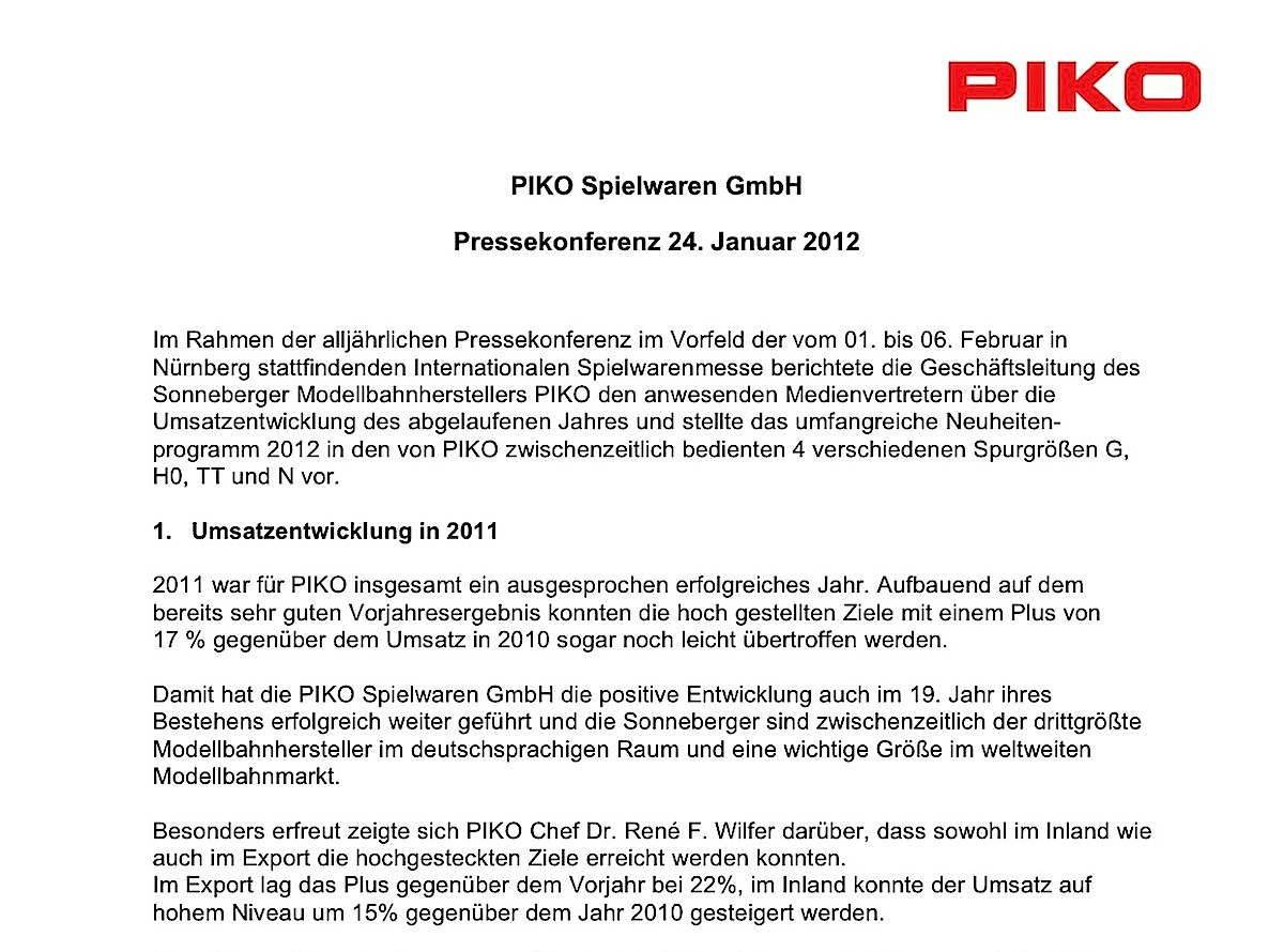 Piko Pressekonferenz (Press conference) 2012