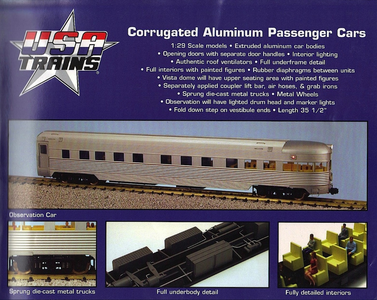 USA Trains Streamliner Wagen (Cars)
