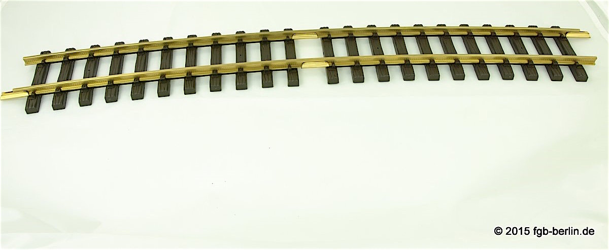 LGB gebogenes Messinggleis (Curved Brass Track) R5