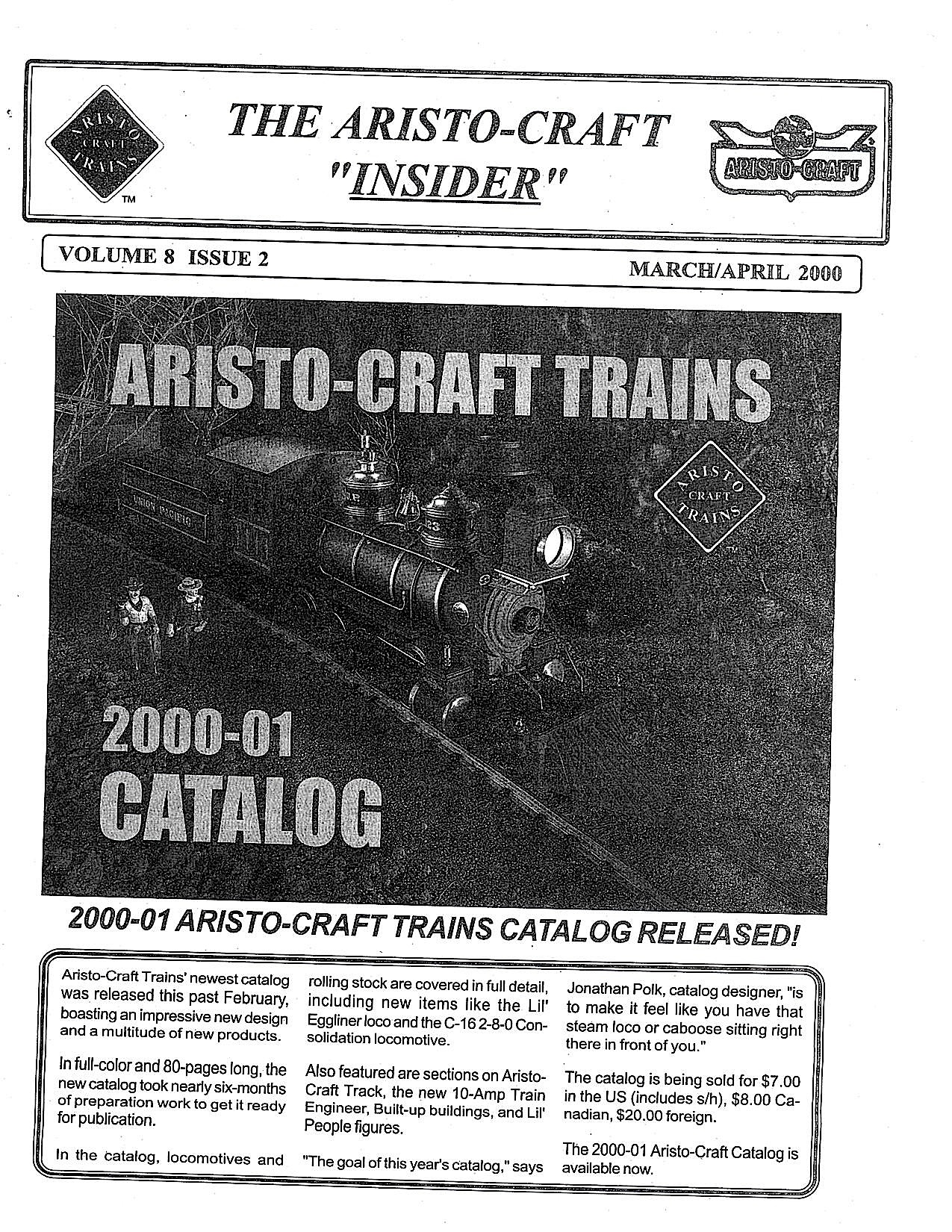 Aristocraft Insider - 2000, Iss. 2 (March/April)