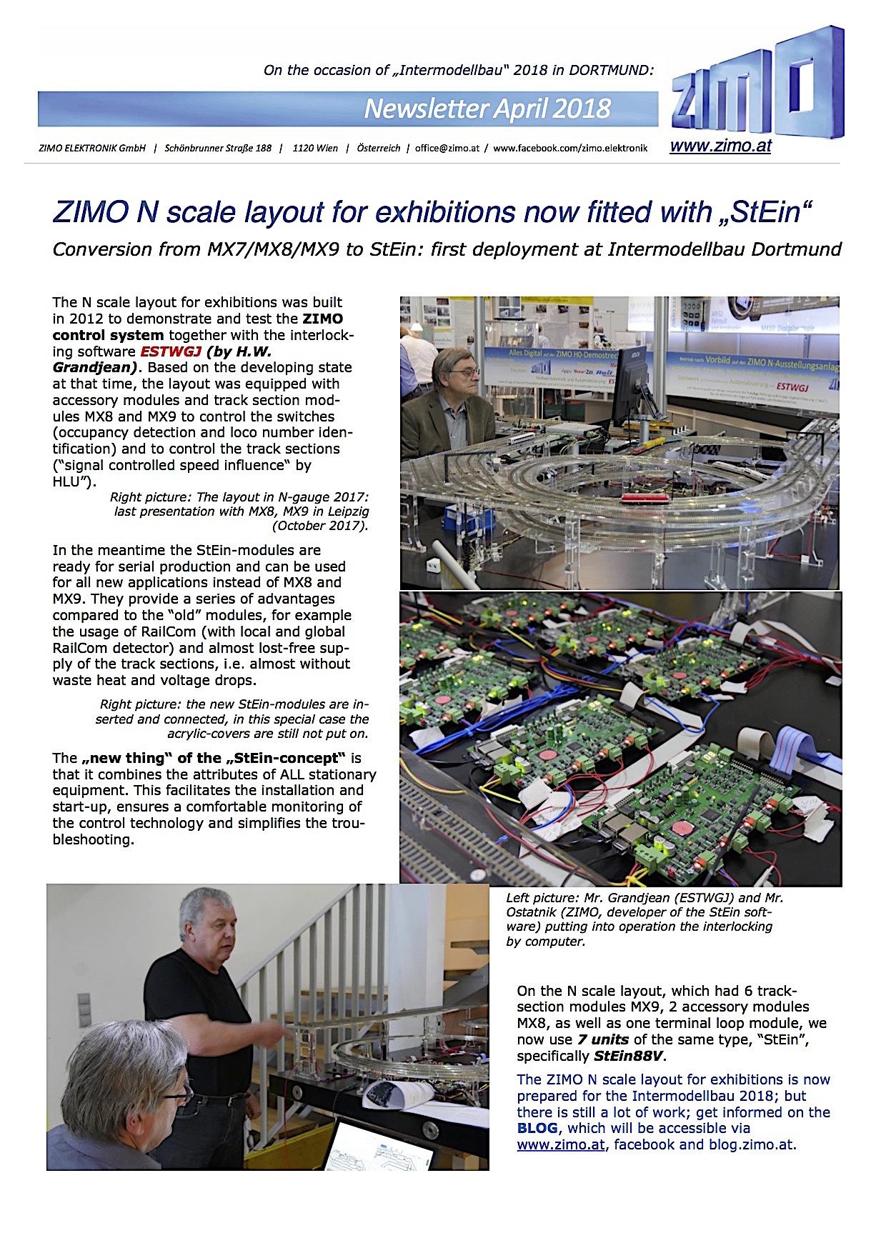Zimo Newsletter - 2018-04 April (English)