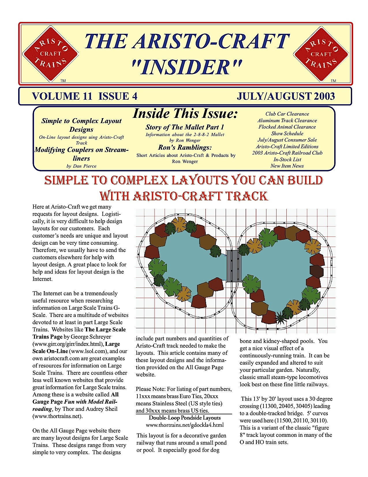 Aristocraft Insider - 2003, Iss. 4 (July/Aug)