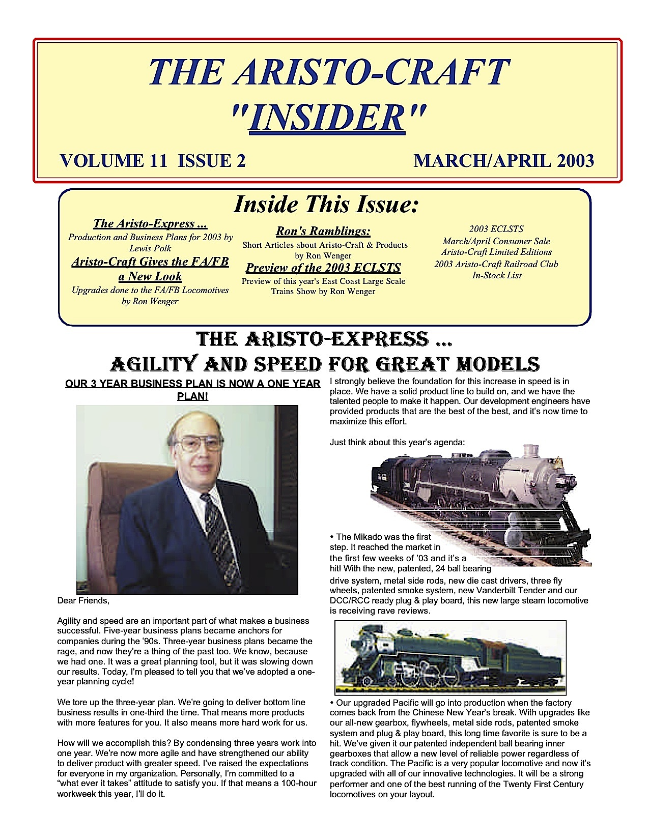 Aristocraft Insider - 2003, Iss. 2 (March/April)