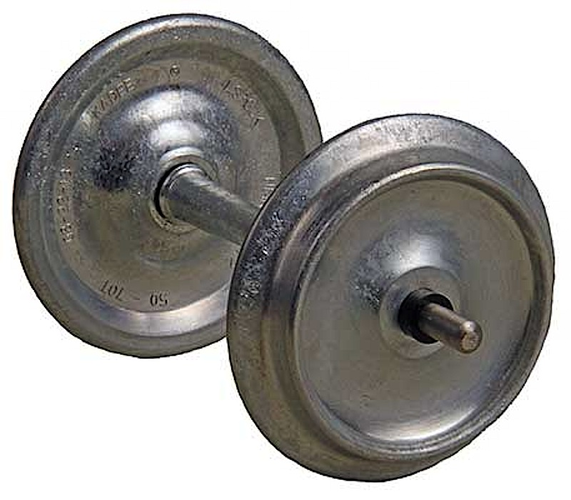 Kadee Metallachsen, ungefärbt (Metal wheels, uncoloured), 29 mm