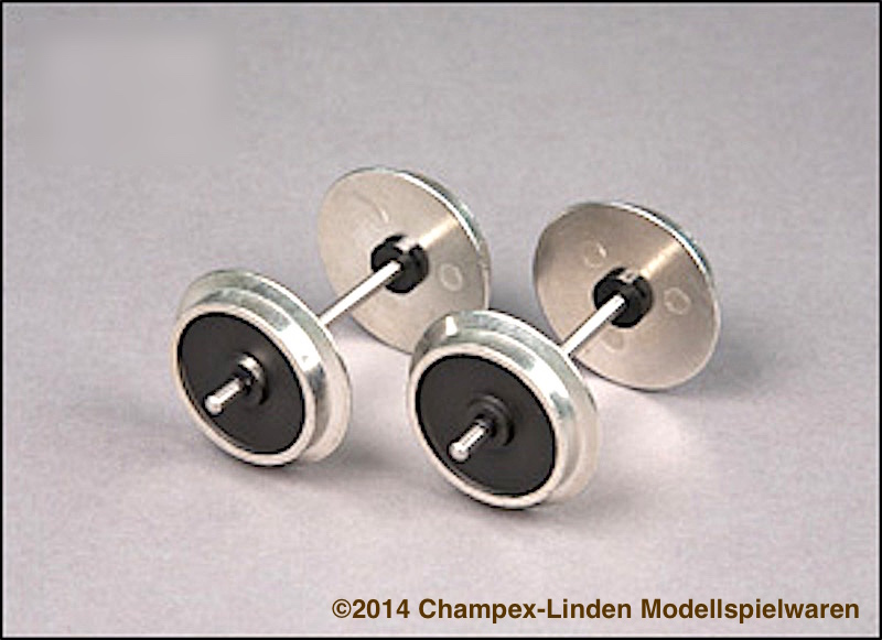 Champex-Linden Metallachsen, Vollrad (Metal wheels, solid) 31 mm