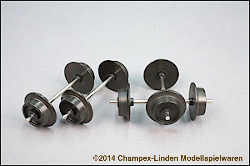 Champex-Linden Metallachsen, Vollrad (Metal wheels, solid) 17 mm