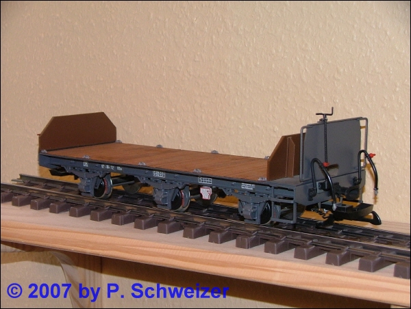 Flachwagen, 3-achsig (Flat car, 3-axles)