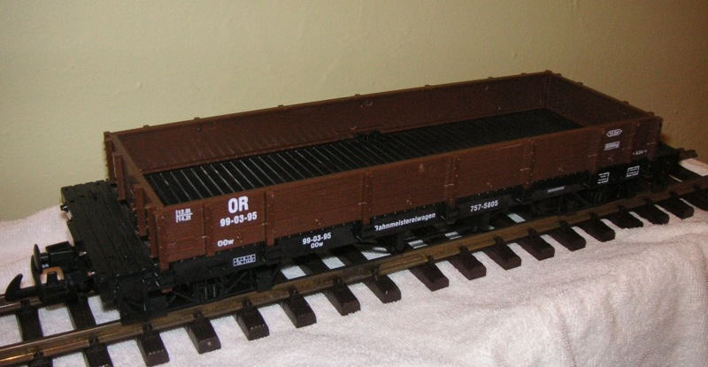 Niederbordwagen, braun (Low sided gondola in brown)