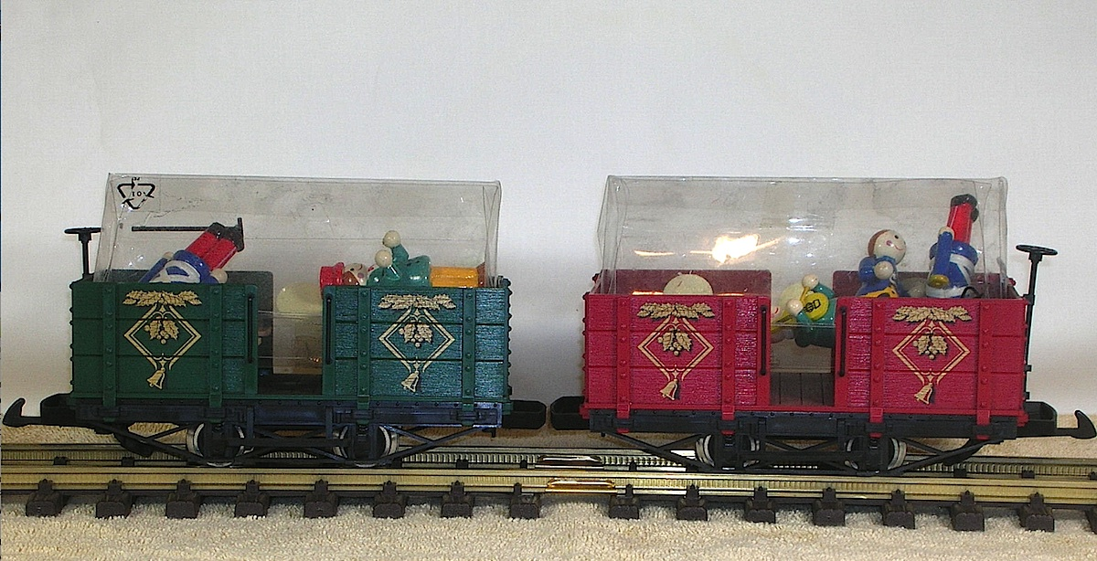 Weihnachtswagenset (Set of two Christmas cars)