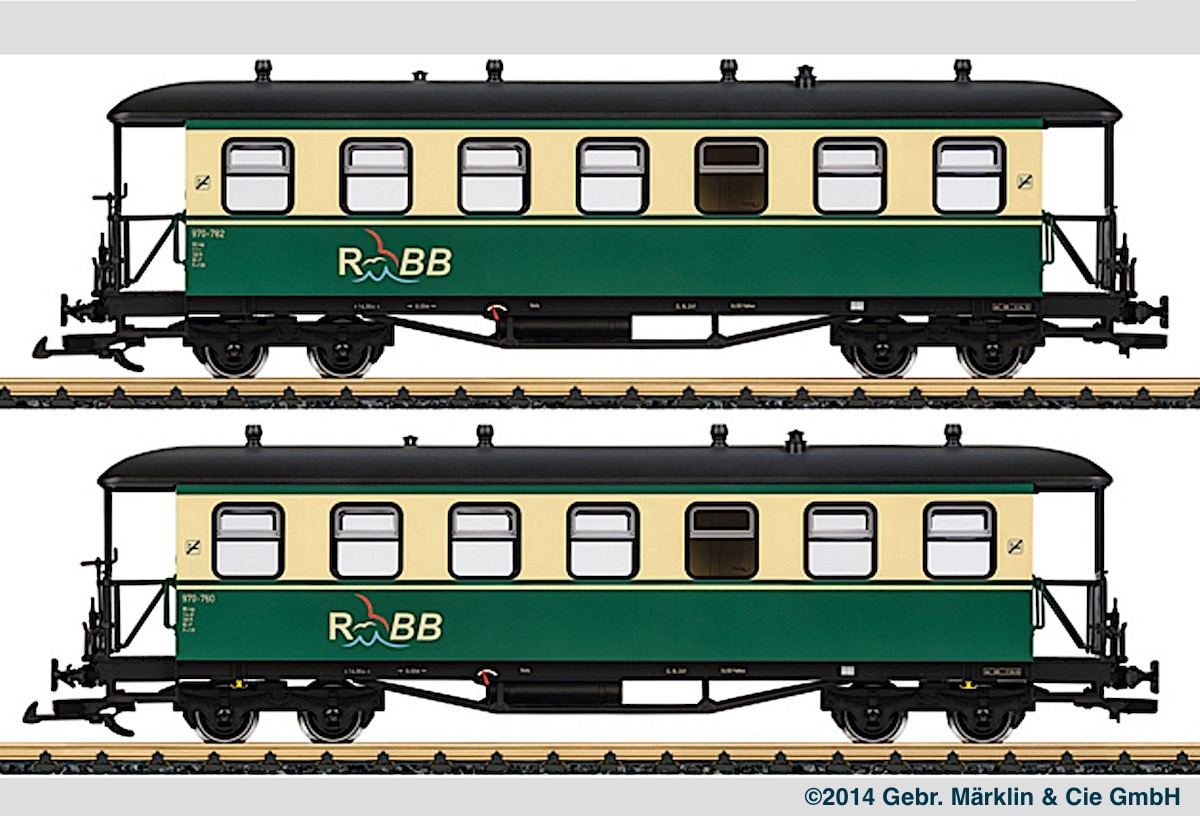RüBB Personenwagen Set (Passenger car set) 970-782