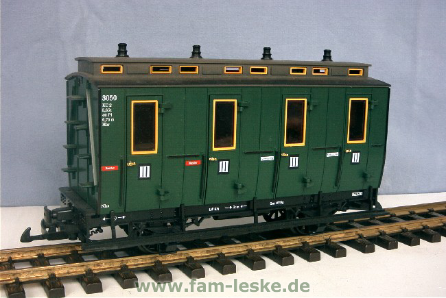 Abteilwagen III Klasse (Compartment Coach 3rd class)
