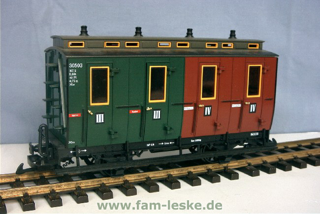 Abteilwagen III/IV Klasse (Compartment Coach 3rd/4th class)