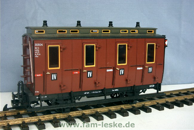Abteilwagen IV Klasse (Compartment Coach 4th class)