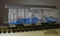 RhB Werbewagen 'Albula' (RhB Boxcar with Albula advertising)