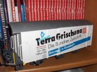 RhB Werbewagen (Box car with advertising) Terra Grischuna
