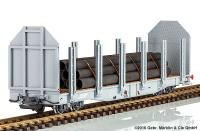RhB Doppelrungenwagen (Flat car with dual stanchions) Sp-w 8353