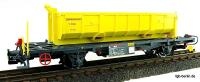 RhB Wagen mit Abraummulde (Flat car with waste material hopper) Lb 7859