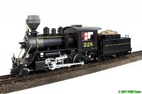 D&RGW 2-6-0 Mogul Dampflok (Mogul steam locomotive) 228