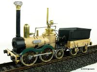 Saxonia Dampflok. linke Seite (Steam locomotive, left side) - Live-Steam