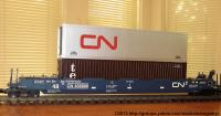 Canadian National Intermodal Container Wagen (Container car) 456806