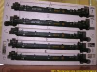 BNSF Intermodal Container 5-Wagen Set (Container 5-car set) 12853
