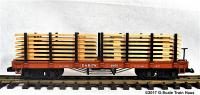 D&RGW Rungenwagen mit Holzladung (Flat car with stanchions and lumber load) Version 1