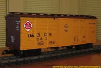 D&RGW Güterwagen (Box car) Wells Fargo 201